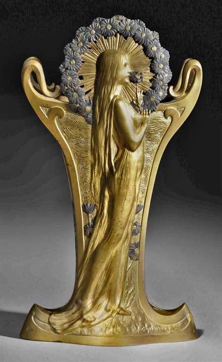 Art-Nouveau-nude-female-bronze sculpture