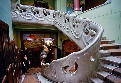 Art-Nouveau-staircase at Gorky House Museum in Moscow