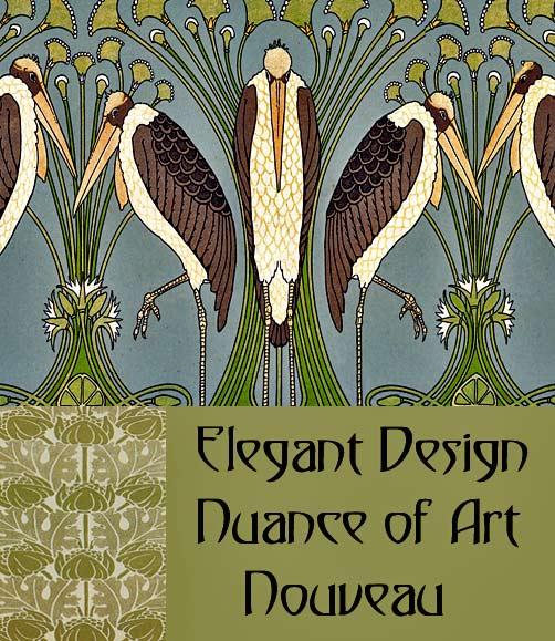 elegant design nuance of art nouveau. Black Bedroom Furniture Sets. Home Design Ideas