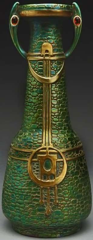 Austrian-Art-Nouveau-Ceramic-Vase-w