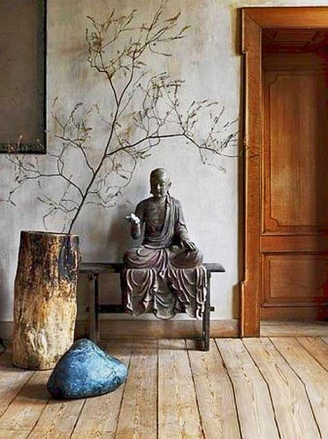 Buddhist-stone-statue interior decorating