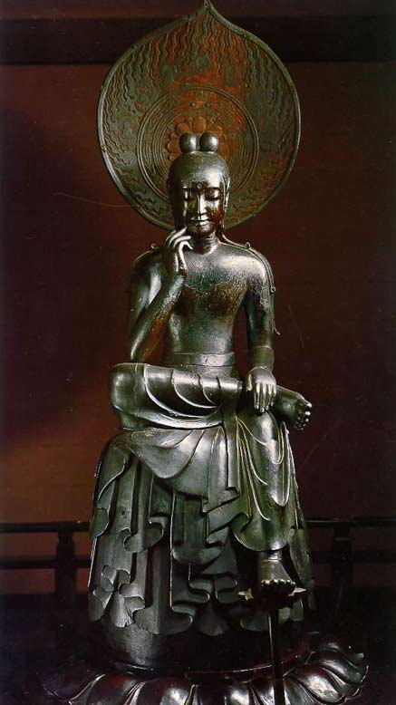 Japanese-national-treasure-Hanka-Shiyui-statue