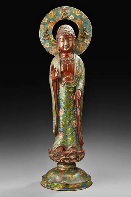 cloisonne-standing-buddha-statue