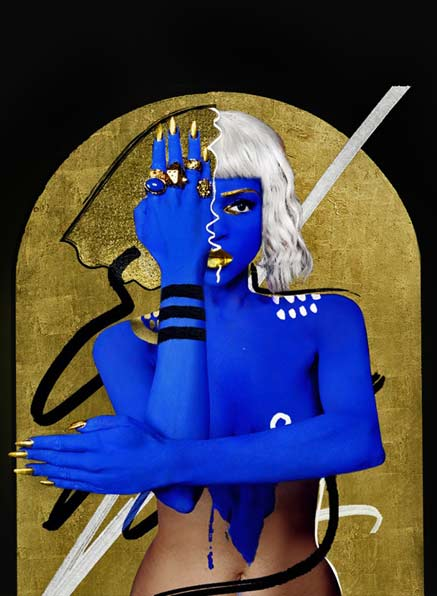 Lina-Viktor-body-paint-blue and gold background