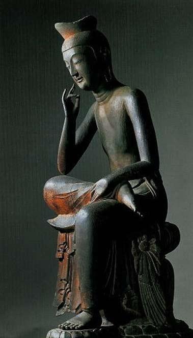National-treasure-of-Japan Miroku Bosatsu statue
