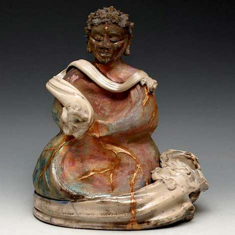 Raku-Buddha-Statue-Seated-in-the-Clouds-Sculpture-AnitaFeng-buddhabulider