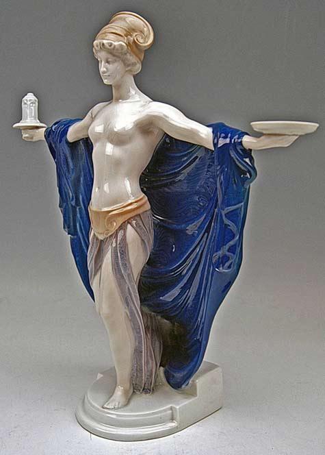 Rosenthal Germany Rare Figurine Temple Dedication by F. Liebermann, circa 1914---City-Antik-Vienna