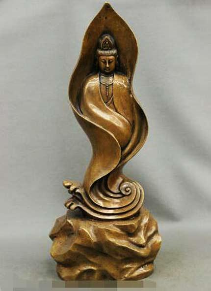 S4176-23-China-Buddhism-Copper-Bronze-GuanYin-Kwan-yin-Bodhisattva-font-b-Buddha-b-font-font
