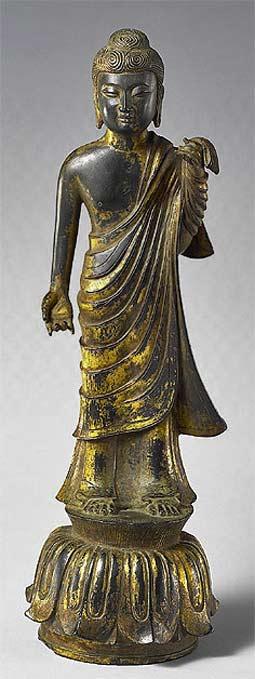 Bronze Standing Buddha, Hakuho period, Japan, ca. 710-794
