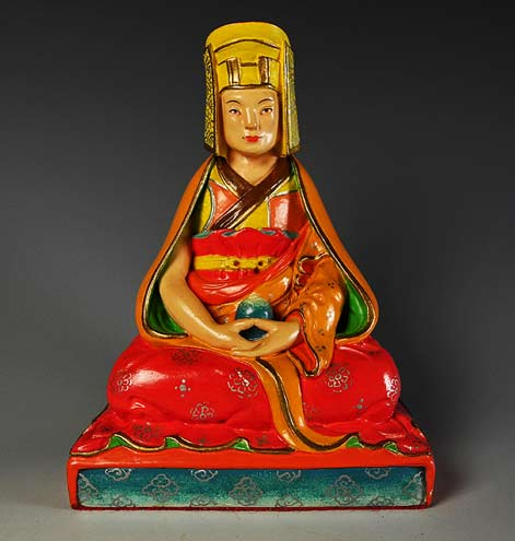 gampopa - was the foremost disciple of Milarepa,dressed in red