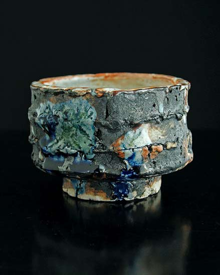 shino black footed vessel - Adam Whatley