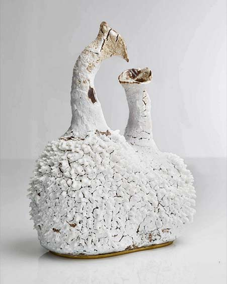 accretion-vase-by-the-haas-brothers-contemporary ceramic vessel in white
