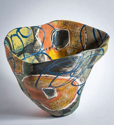 carolyn-genders mid-century abstract style vessel