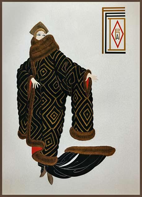 Erte - Romain de Tirtoff art deco illustration