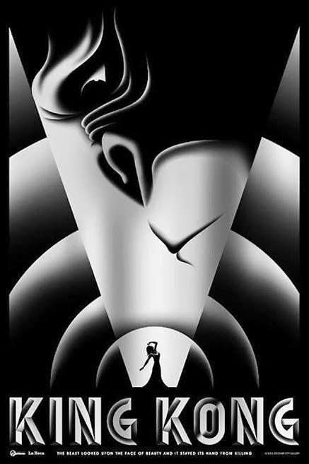 king-kong-by-la-boca Art Deco style poster art