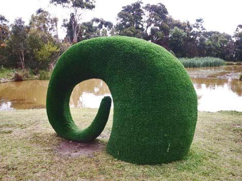 mcclelland-gallery-Snuffle green sculpture Sebastian Di Mauro