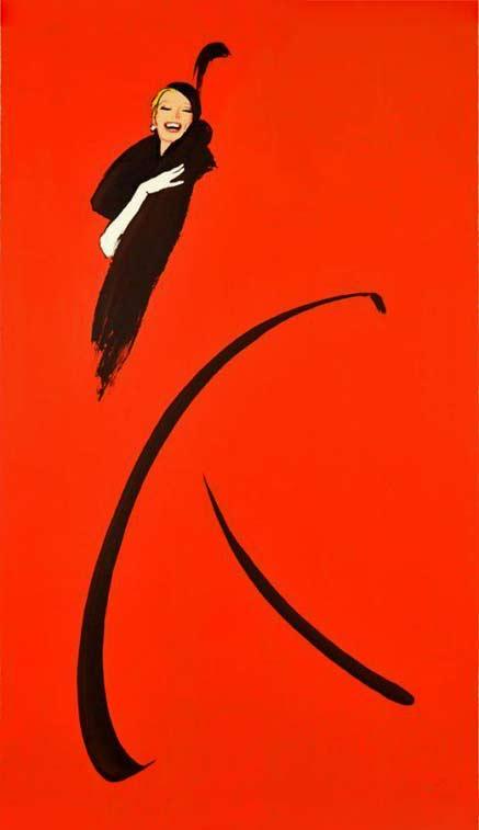 poster-art French fashion illustrator Rene Gruau