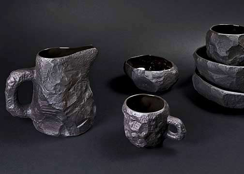 max-lamb-black basalt-crockery-collection