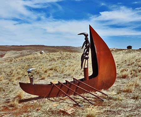 2016 nicholas-uhlmann-the-hood-iii boat sculpture