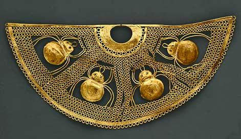 1st century B.C. – A.D. 2nd century Peru - nose ornament - MET