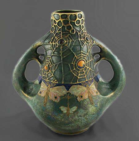 amphora-twin-handled-vase-art-nouveau-era