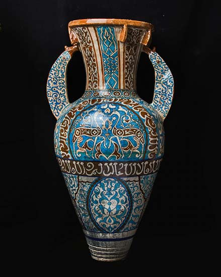 turquoise Alhambra vase barakat-gallery-store