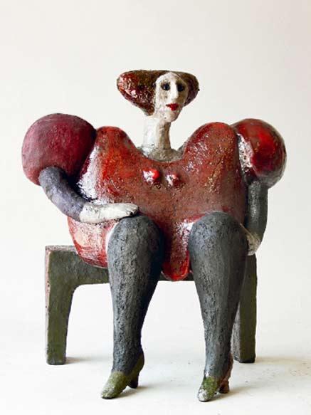 baronette-roger-capron ceramic sculpture