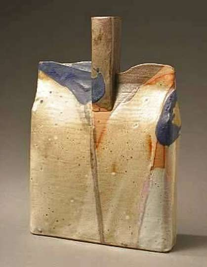 John Gill ceramic-bottle- in muted earthy colour tones