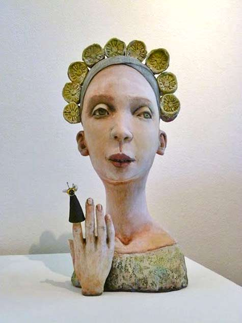 charlene-doiron-reinhart ceramic bust