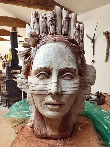 debra-fritts ceramic surreal bust
