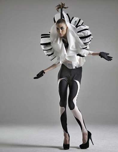 elena-slivnyak-for-iimuahii - black and white fashion-costume futuristic styling