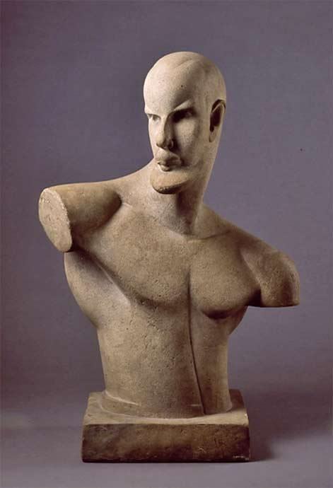 Chana-orlova art deco sculpture bust