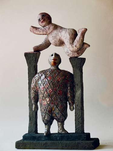 harlequin-roger-capron ceramic scuulpture