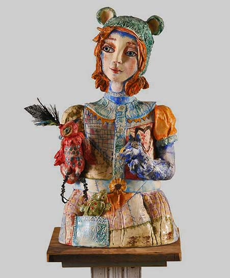 i-become-what-i-love Dreama Kattenbraker sculpture bust mixed media