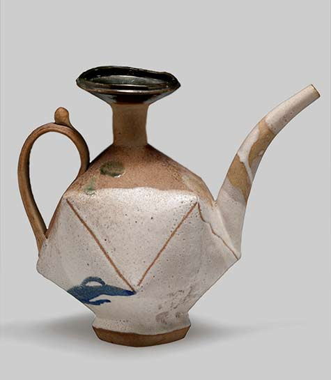 John Gill ewer-1983-stoneware-12-x-13-x-9-5-in-photo-brian-oglesbee