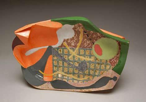 John Gill-ceramic sculptured platter