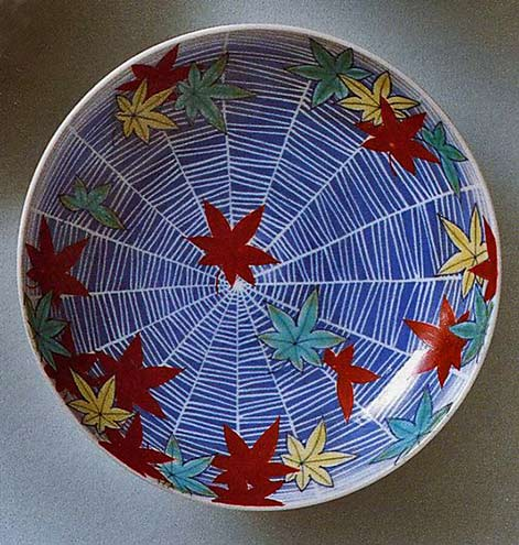 maple-leaves-and-spider-web-period edo