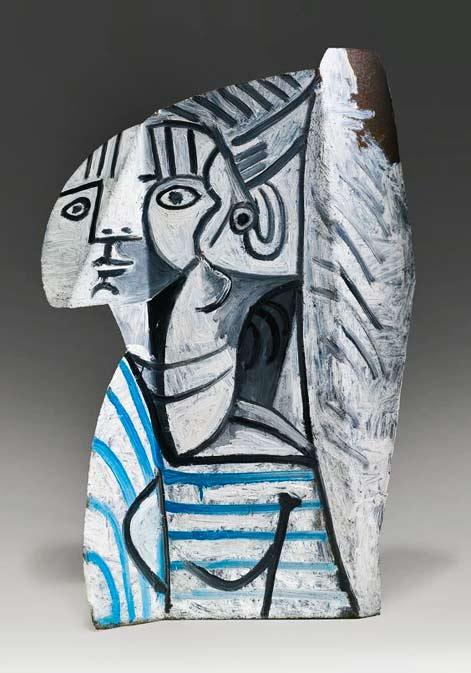 pablo-picasso-1881-1973-sylvette sculpture bust