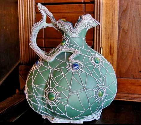 rare-nippon-moriage-spider-jug