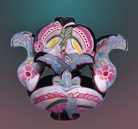 red-and-pink-flowers vessel - Andrea Gill