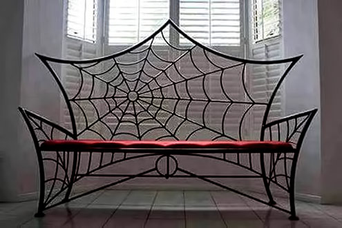 Spiderweb-steel Bench-by-Metal-Abuse