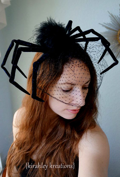 Black Widow Spider hat by Kirahley Kreation on Etsy