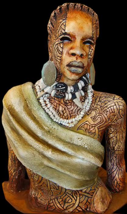 woodrow-nash-tribal African sculpture bust