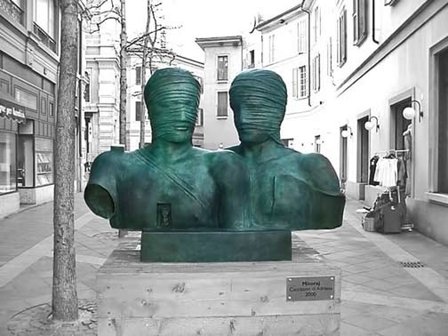 igor_mitoraj_21 twin sculpture busts