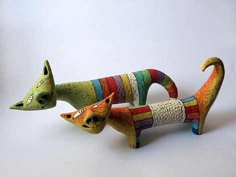 Inna-Olshansky-modernist cat sculptures