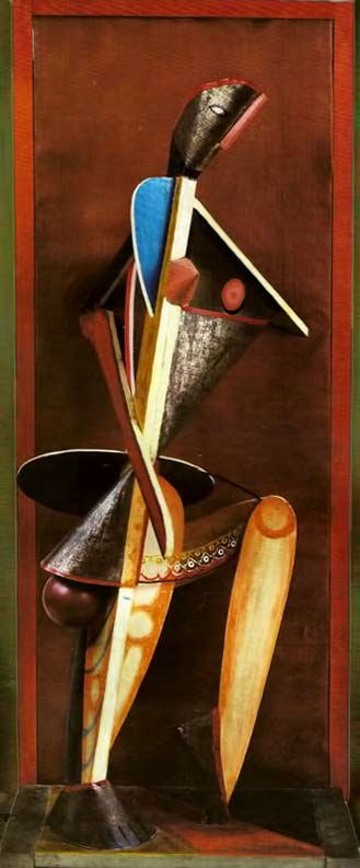 alexander-archipenko-medrano-ii-1913-cubist-sculpture-painted-tin-glass-wood-oilcloth