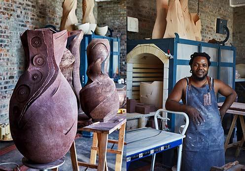 andile-dyalvane in his Cape Town studio