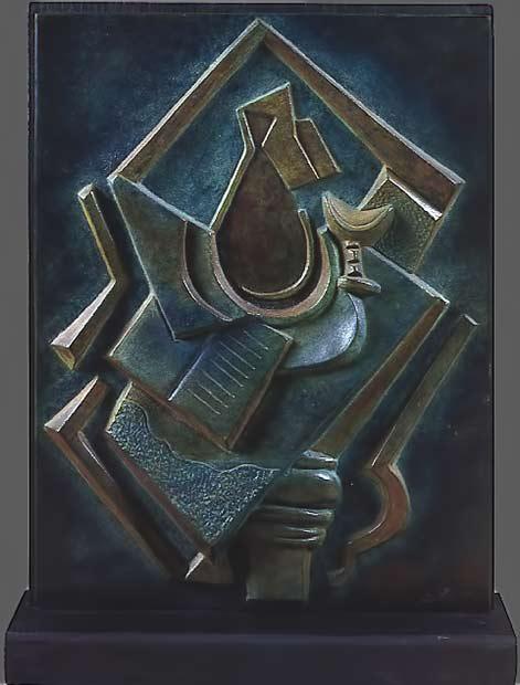 archipenko-nature-morte cubist sculpture