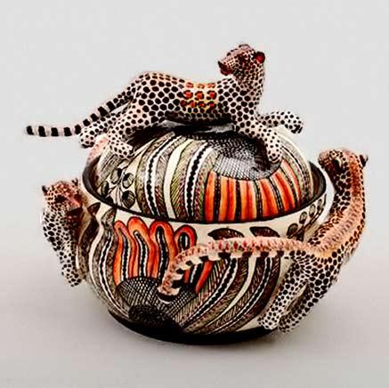 ardmore-ceramic leopard tureen