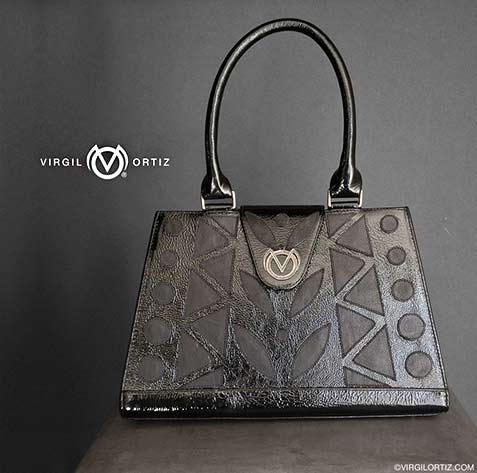 black leather crowbag-virgil-ortiz